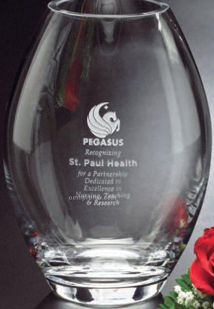 "Clear Crystal Barrel Vase Award (8 1/2"")"