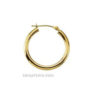 Ladies' 14ky 16mm Hoop Earring