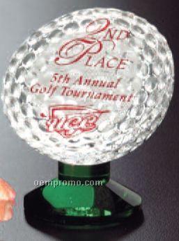 "Sports Gallery Fairway Crystal Award (3 1/4"")"