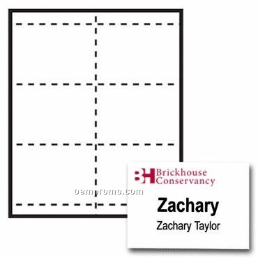 """Classic Name Tag Paper Insert - 2 Color (4 1/4""""X3 2/3"""")"""