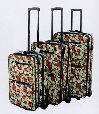 Fashion Luggage 3 Piece Set - Collection A (Ladybug Print)