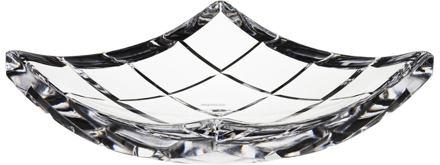 Fashion New York Crystal Plate W/ Grid Pattern By Martti Rytkonen