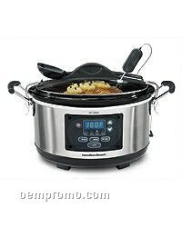 Hamilton Beach 6 Qt Slow Cooker Programmable With Clips