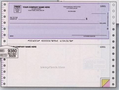 Multipurpose Voucher Check W/ Lines (2 Part)