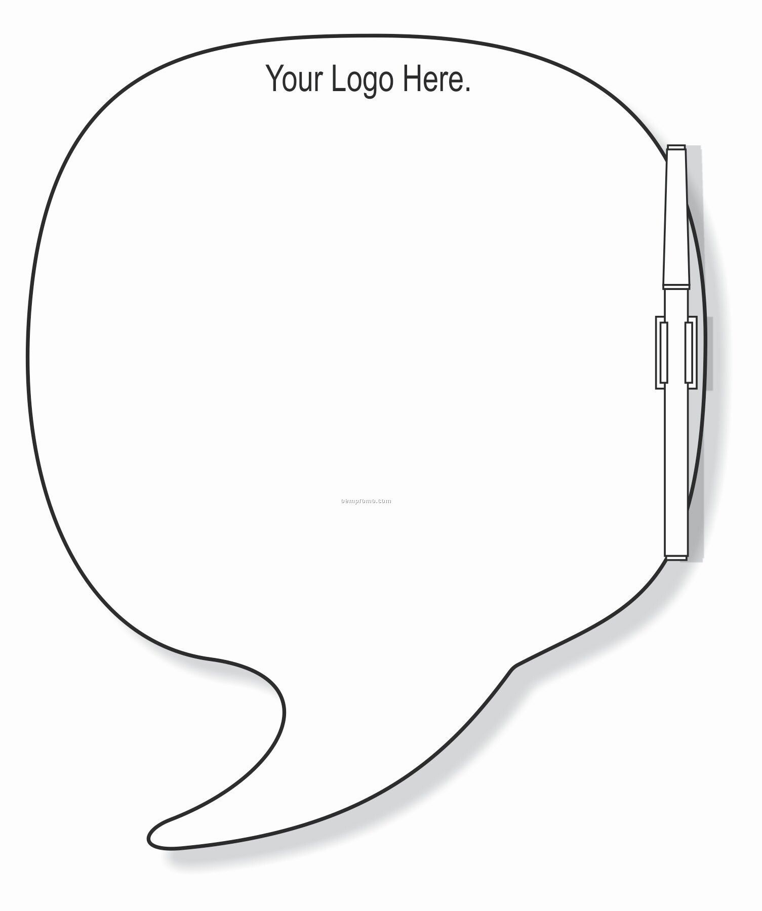 Standard Round Speech Bubble White Board