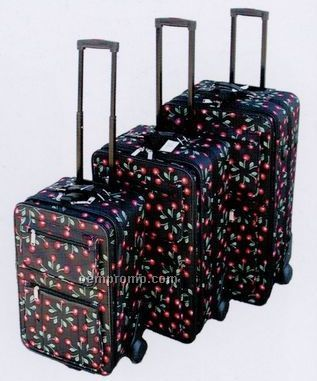 Fashion Luggage 3 Piece Set - Collection A (Cherry Print)