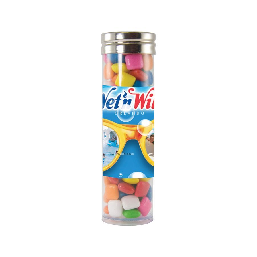 Large Gourmet Plastic Candy Tube With Gum