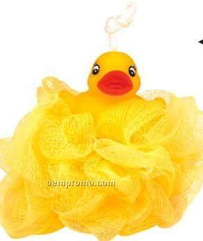 Rubber Duck Woven Mesh Sponge
