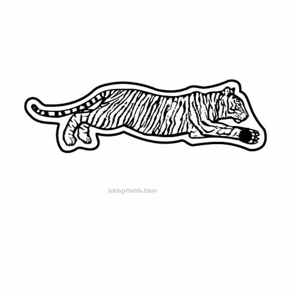 Stock Shape Collection Tiger Laying Down Key Tag