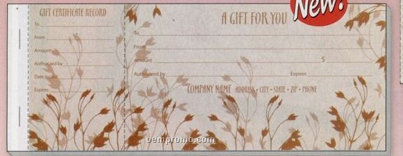 """Nature's Spray"" Prestige Collection Gift Certificate"
