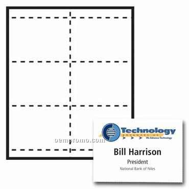 """4 1/4""""X3 2/3"""" Classic Name Tag Paper Insert - 4 Color"""