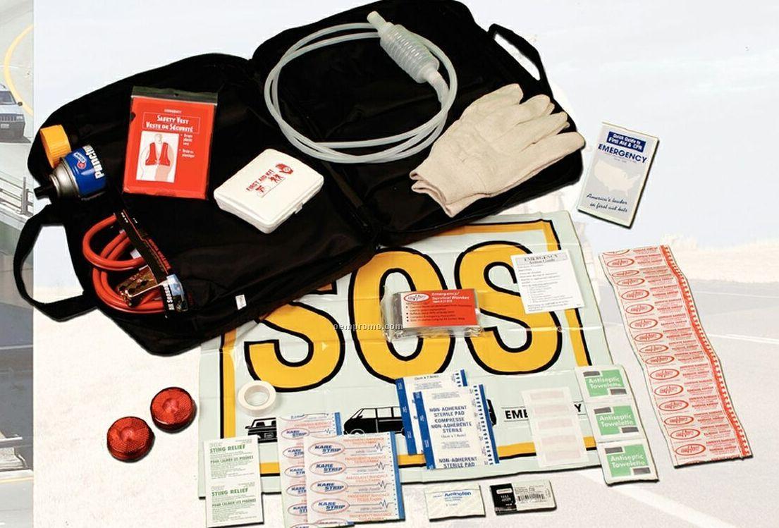 Executive Road Hazard Survival Kit With Zipper Closure