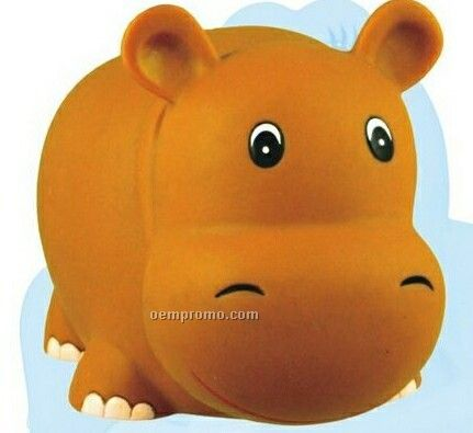 Large Squeaking Rubber Hippo Toy