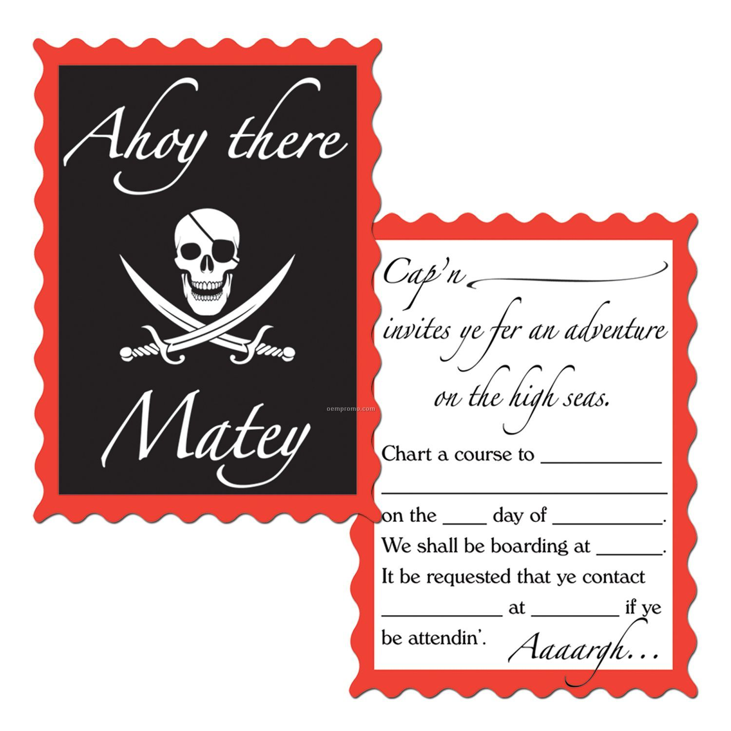 Pirate Party InvitationsChina Wholesale Pirate Party Invitations – Pirate Party Invites