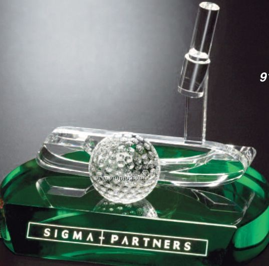 Sports Gallery Crystal Putter Award