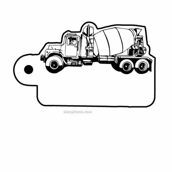 Stock Shape Collection Cement Truck 3 Key Tag