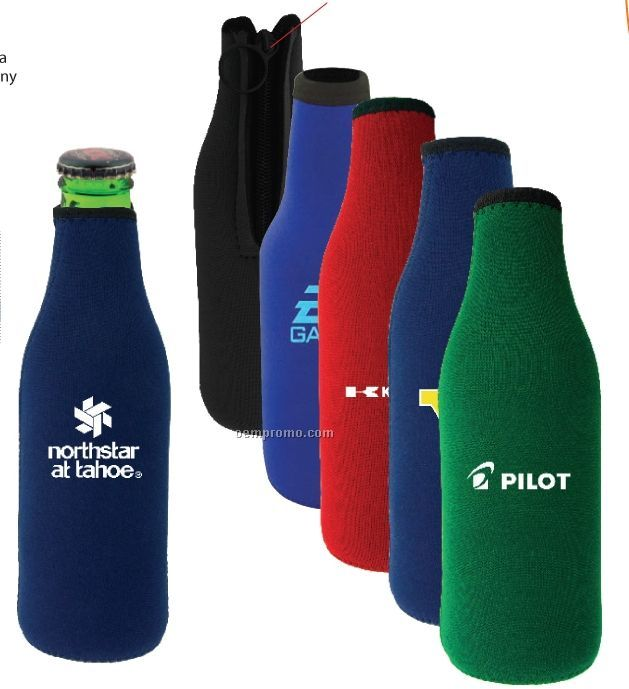 Stubby Bottle Holder W/Zipper (Direct Import-10 Weeks Ocean)