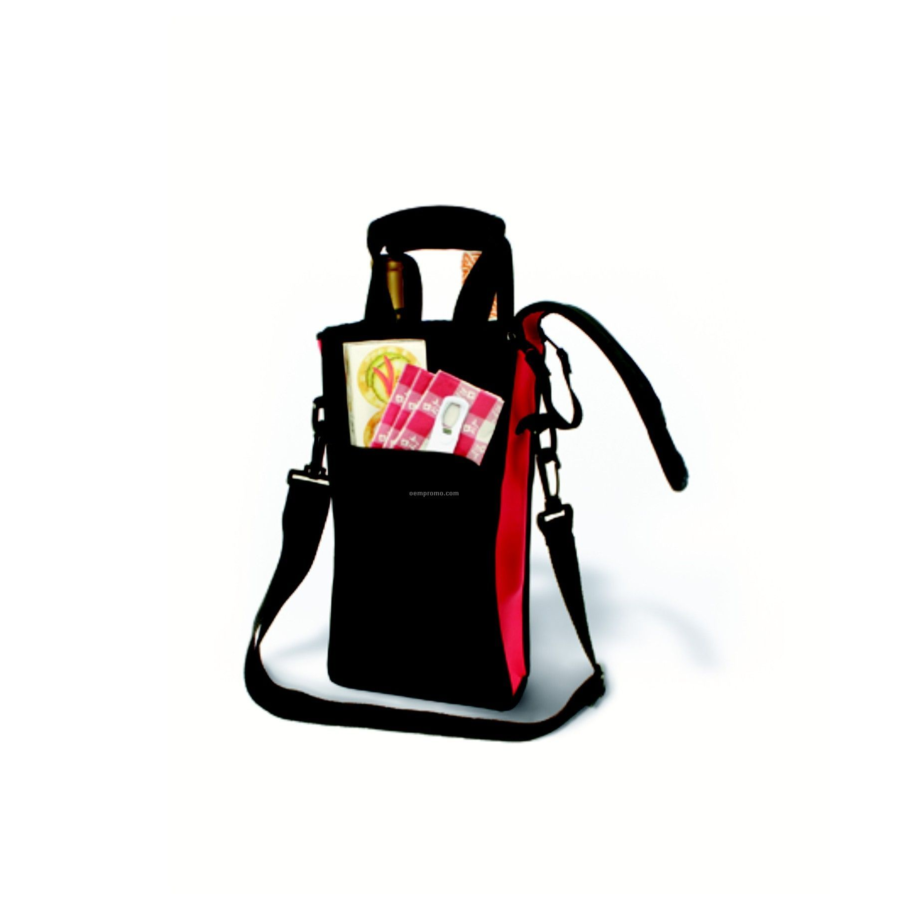Zip-n-go Picnic Neoprene Two-bottle Tote Bag- Boxed