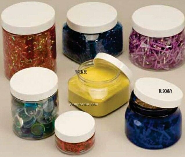 5 Oz. Country Canister Specialty Wide Mouth Glass Jars