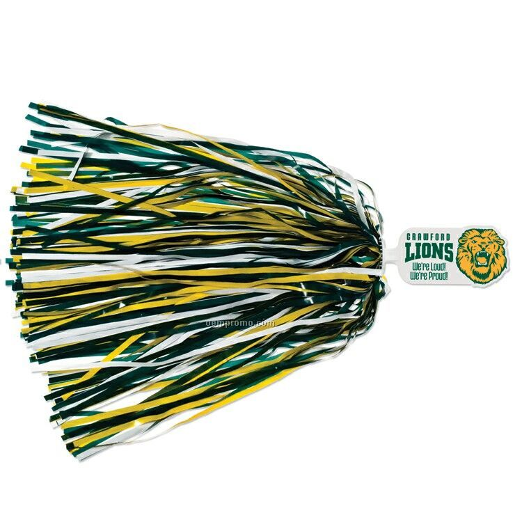 500-streamer Pom Poms With Mascot Handle - Lion