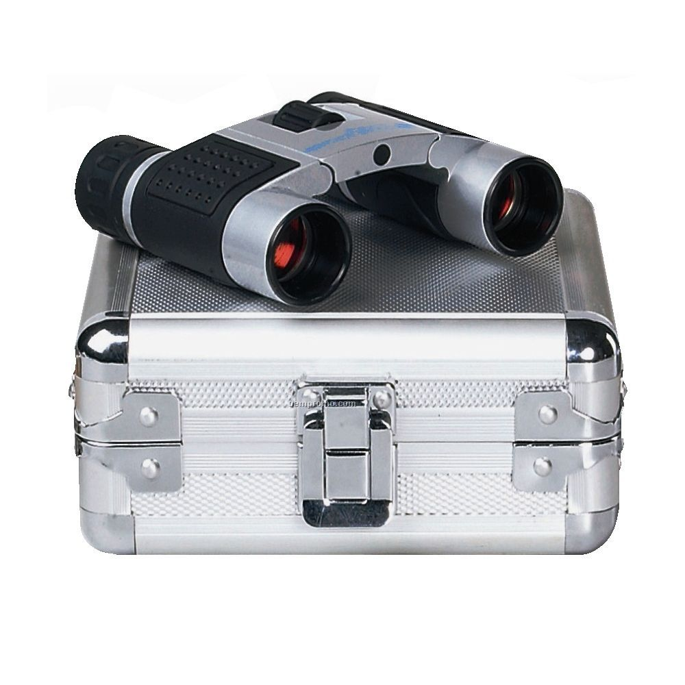 8x22 Binoculars In Deluxe Metal Case
