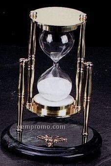 Brass & Green Marble Nursing Sand Timer
