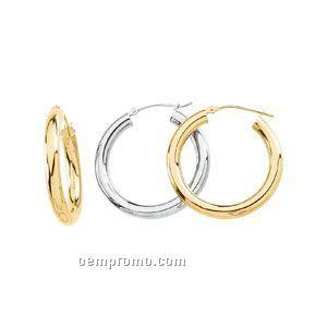 Ladies' 14ky 35mm Hoop Earring