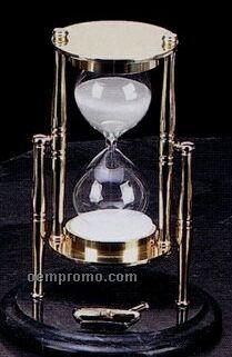 Brass & Green Marble Pharmacy Sand Timer