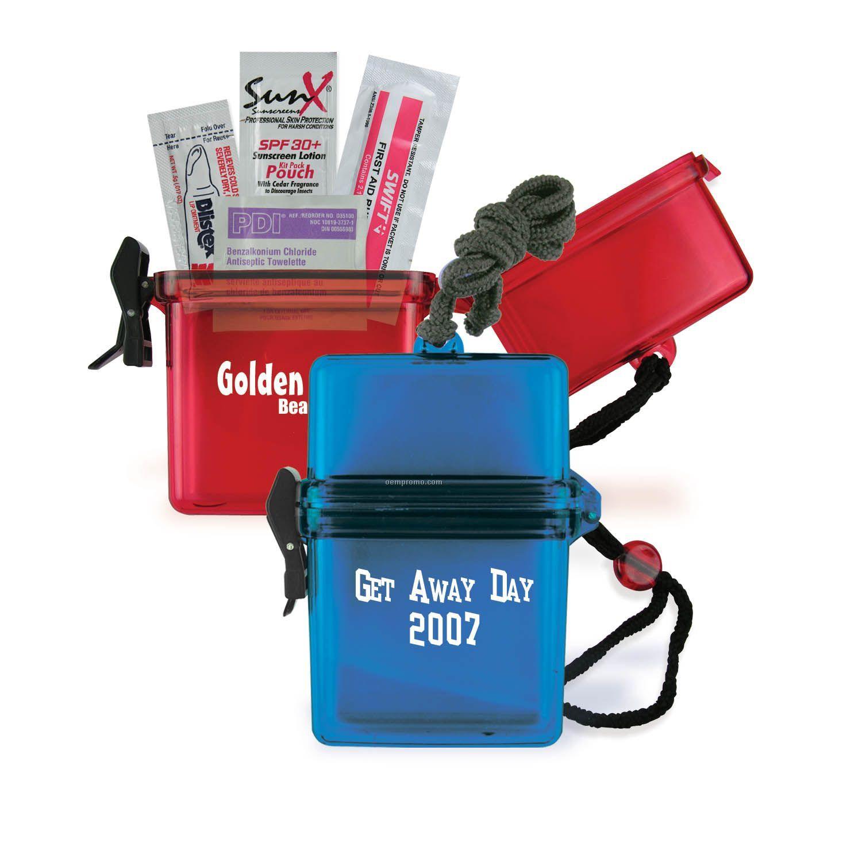 Preserver Personal Protector Beach Kit W/Lip Balm & Sunblock
