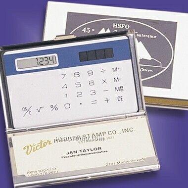 Silver-like Cardholder & Calculator (Screened)