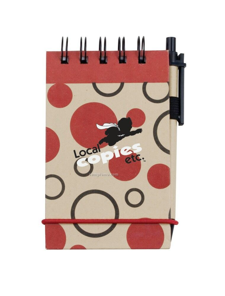 V Natural Kraft Geo Spiral Bound Jotter