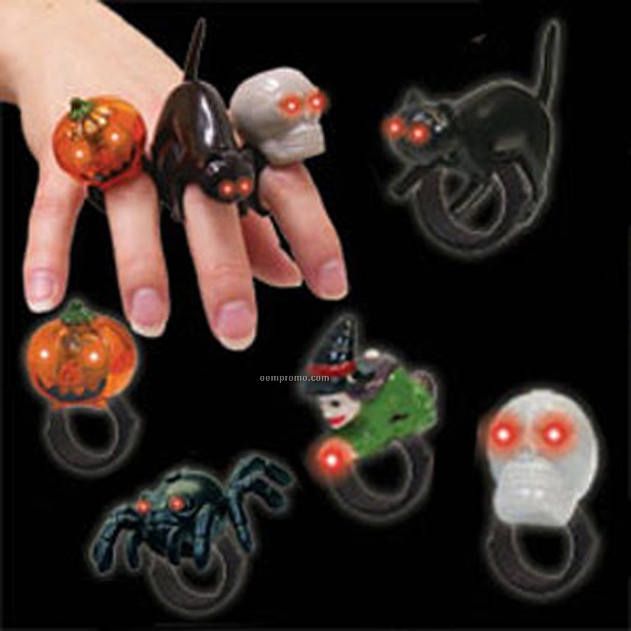 Flashing Jelly Halloween Light Up Ring