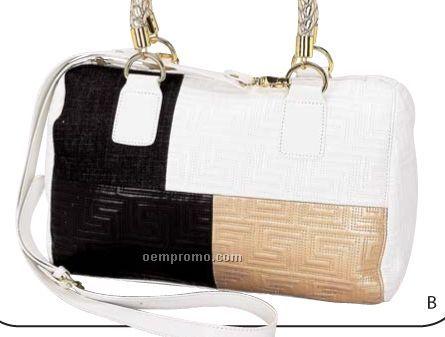 Gigi Chantal Tri-colored Barrel Bag