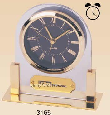 Gold Plated Acrylic Alarm Clock (Screened)