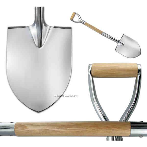 Show Chrome Plated D-handle Groundbreaking Ceremonial Shovel