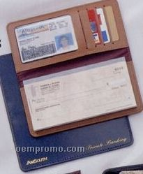 Bonded Leather Chek-keeper I Checkbook Cover