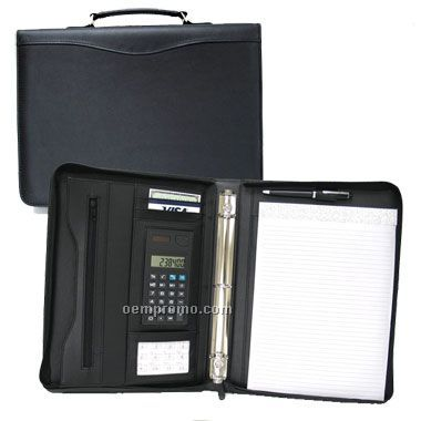 Business Zippered Portfolio W/Calculator