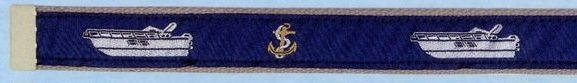 Embroidered Pattern Belt With Leather Tip (Express Cruiser)
