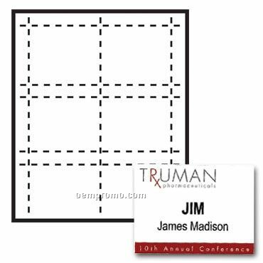 "Classic Name Tag Paper Insert - 3 Color (4""X3"")"