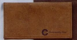 Distressed Old World Top Grain Leather Chek-keeper II Check Cover