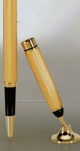 Gold Pen & Funnel