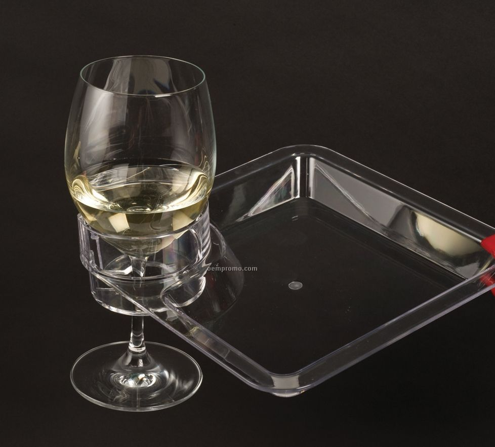Multi-bev Acrylic Party Plate- Laser Engraved