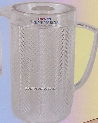 Plastic Covered Chevron Pitcher With Cover (80 Oz)