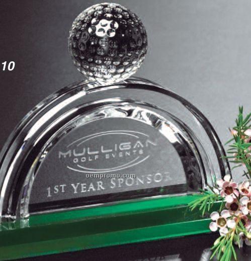 Sports Gallery Crystal Pebble Beach Award