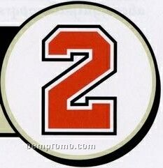 """Stock Athletic Number Pack W/ 4"""" Numbers & 2 Colors (San Diego)"""