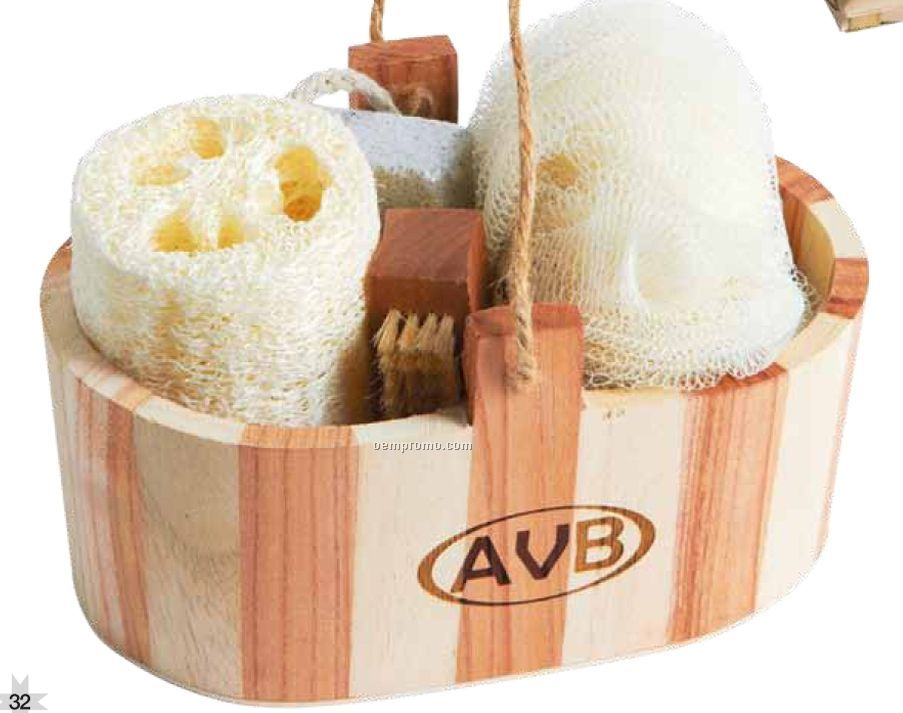 Wooden Tub Spa Gift Set