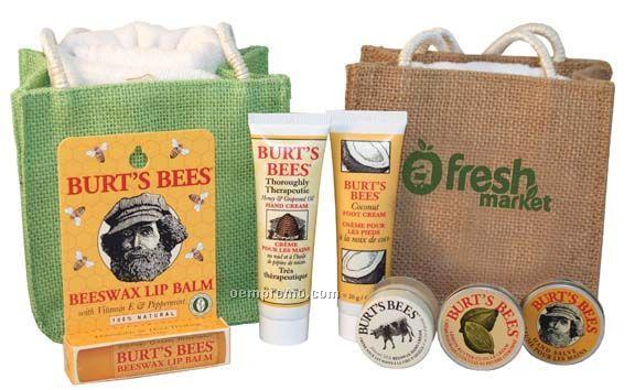 Burt's Bees The Hand Care/Foot Care Kit - Jute W/Towel