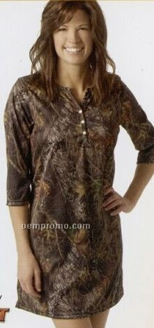 Camouflage Henley Night Shirt