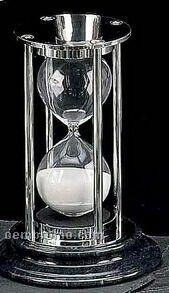 Chrome & Black Marble 15 Minutes Sand Timer