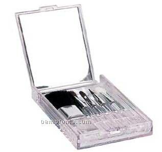 Cosmetic, 5 Brush Set, In Transparent Case